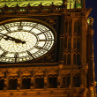 Big Ben Illuminated At Night, London, England - Stock Photo