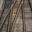 Railway Track Junction - Stock Photo