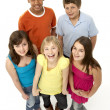 Stock Photo: Group Of Five Young Children In Studio