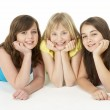 Group Of Three Young Girls In Studio — Stock Photo #4794760