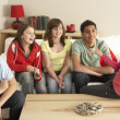 Group Of Children ChattingAt Home — Foto Stock