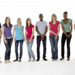 Group Of Teenage Friends In Studio — Stock Photo #4795110