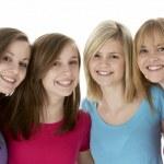 Group Of Teenage Girlfriends — Stock Photo