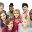 Stock Photo: Group Of Teenage Friends In Studio