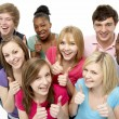 Group Of Teenage Friends In Studio — Stock Photo #4795153