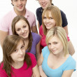 Group Of Teenage Friends In Studio — Stock Photo #4795160