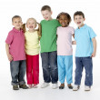 Group Of Young Children In Studio — Stock Photo