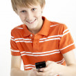 Young Boy With Mobile Phone — Stock Photo