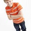 Stock Photo: Portrait Of Smiling 12 Year Old Boy