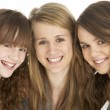 Stock Photo: Studio Portrait Of Three Sisters