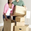 Couple Moving Into New Home — Stock Photo #4795827