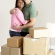 Couple Moving Into New Home — Stock Photo #4795829