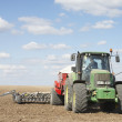Tractor Planting Seed In Field — Stock Photo #4795970