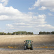 Tractor Spraying Field — Stock Photo