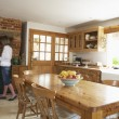 Interior Of Farmouse Kitchen - Stock Photo