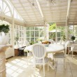 Interior Of Modern Conservatory - Stock Photo