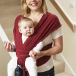 Baby In Sling With Mother — Stock Photo #4796438