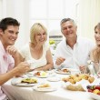 Family Group Enjoying Hotel Breakfast — Stock Photo #4796552