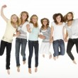 Group Of Teenage Girlfriends — Stock Photo