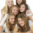 Stock Photo: Group Of Teenage Girlfriends