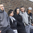 Gang Of Youths Leaning On Wall — Stock Photo #4796736
