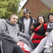 Gang Of Youths Sitting On Cars — Stock Photo #4796749