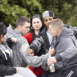 Gang Of Youths Fighting - Foto Stock