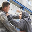 Knife Crime On Urban Street - ストック写真