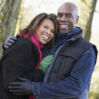 Couple On Autumn Walk — Stock Photo