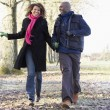 Foto Stock: Couple On Autumn Walk