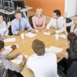 Stock Traders In A Meeting — Stock Photo