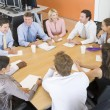 Stock Traders In A Meeting — Stockfoto