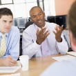 Stock Traders Conducting Interview — Stock Photo