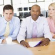 Stock Traders Conducting Interview - Foto Stock