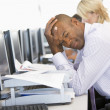 Stock Trader Looking Frustrated — Stock Photo