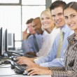 Team Of Stock Traders At Work — Stock Photo #4796986