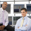 Portrait Of Two Stock Traders — Stock Photo #4797029