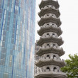 UK,Birmingham,Pagoda - Stock Photo
