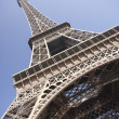 Stock Photo: Eiffel Tower With Blue Sky