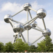The Atomium in Brussels - Stock Photo