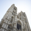 Saint Michael and St Gudula Cathedral in Brussels — Stock Photo