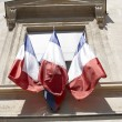 Stock Photo: Three french flags