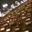 Dubai,Congestion At Night - Stock Photo