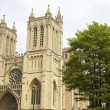 Exterior Of Bristol Cathedral,UK - Stock Photo