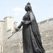 Statue Of Queen Victoria Outside Windsor Castle — Stock Photo