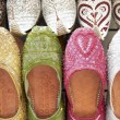 Dubai,Colourful Slippers In Souk - Stock Photo
