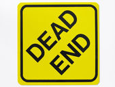 Dead End Road Sign — Stock Photo