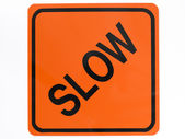 Slow Road Sign — Stock Photo