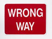 Panneau de signalisation de manière erronée — Photo