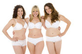 Portrait Of Women In Their Underwear — Stock Photo
